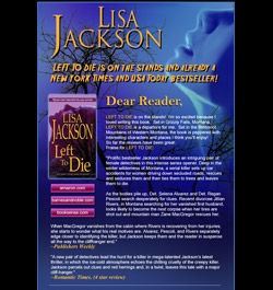 News from Lisa Jackson