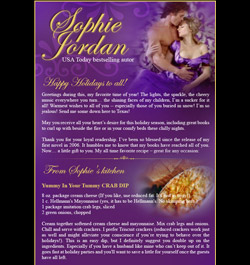News from Sophie Jordan